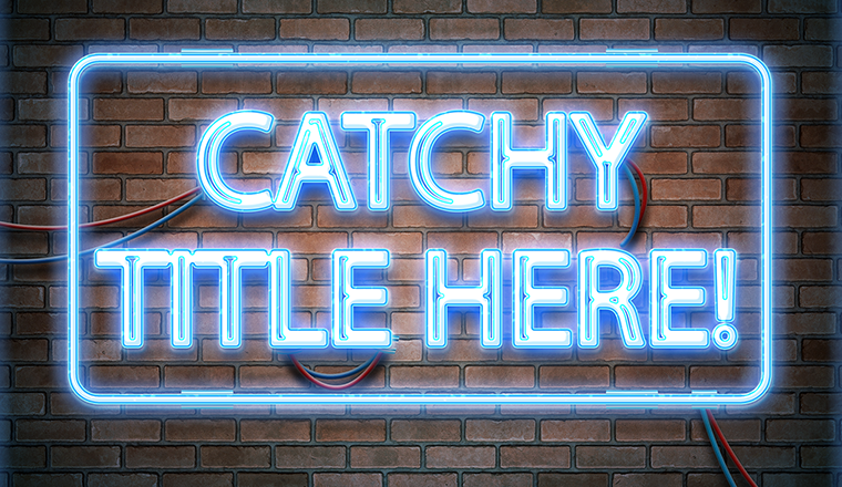 """Catchy Title Here"" Banner Image"