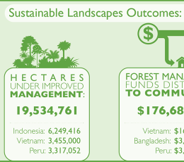 Infographic - E3 Sustainable Lanscaped Outcomes