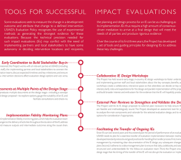 Infographic - Successful Impact Evaluations
