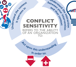 Infographic - Illustrating Conflict Sensitivity for  USAID's Office of Conflict Management and Mitigation