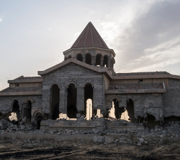 Destroyed Armenian church in Mosul, Iraq