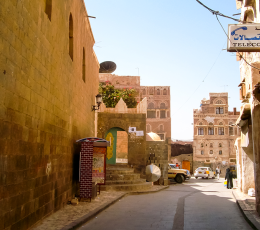Alley in Sanaa, Yemen